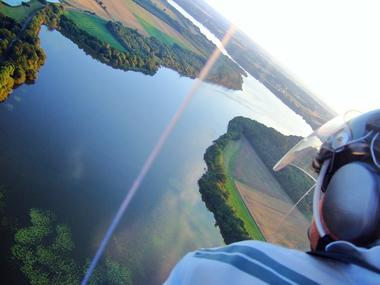 Baptême ULM - lac au Duc - Ploërmel - Loyat - Morbihan - Bretagne