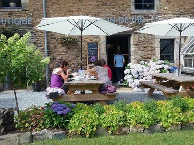 salon de thé - maison de l'hortensia - Taupont - Morbihan - Bretagne
