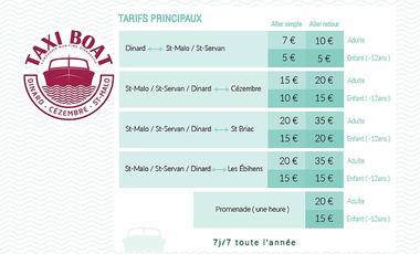 Taxi Boat Dinard - Tarifs