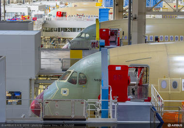 A350 XWB - several noses in FAL