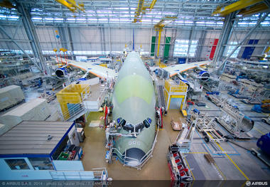 A380 MSN162 SKYMARK ENGINE FITTING - FRONT VIEW