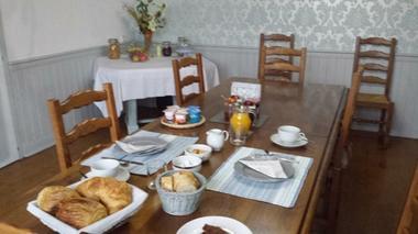 Chambres d'hôtes Les tilleuls, le petit déjeuner, Saint Pé Delbosc