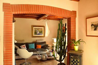 Chb hôtes La Cascadeta salon MARIGNAC-LASCLARES