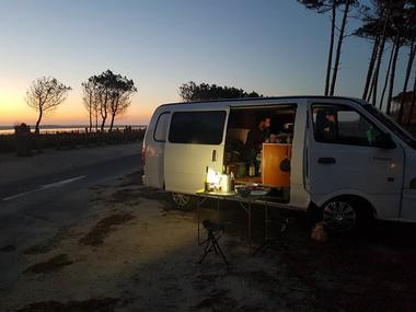 Europe In Van by night