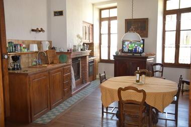 Gîte Boulevard du Midi, la cuisine, Boulogne sur Gesse