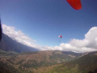 parapente vue montagne TOULOUSE