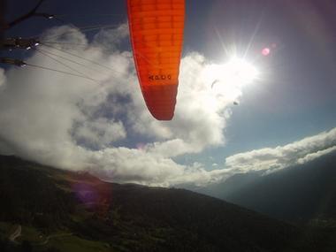 parapente orange soleil TOULOUSE