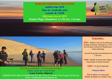 Programme juillet/août 2018 : Marche Nordique Nocturne