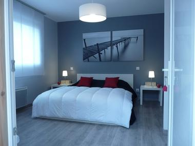 Chambre d'hôtes-Dadoy-Lacanau-chambre rouge