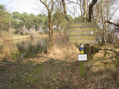 des itinéraires de randonnée longent la partie sud-ouest du lac et pemettent de s'imerger dans la nature