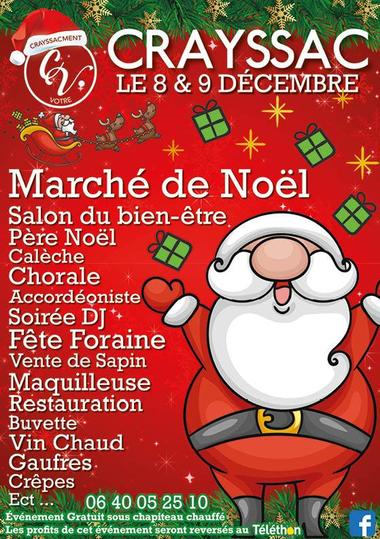 8-9 déc Marché Noël Crayssac