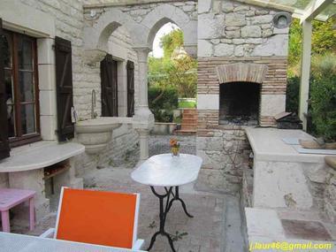 Terrasse couverte - cuisine extérieure