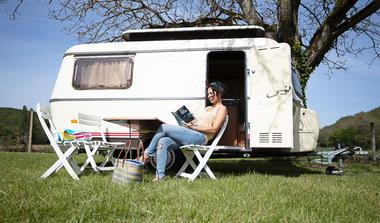 Camping Moulin du Bel Air - caravane
