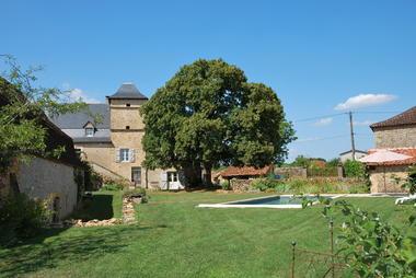 La maison du XVIIIème et son tilleul