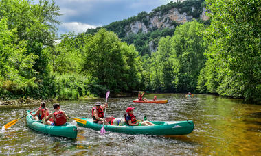 Descente canoe sur le Célé -