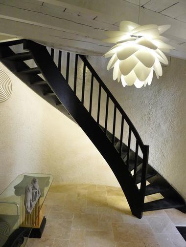 Escalier entrée gîte
