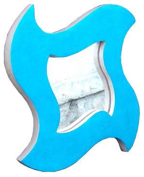 1 Miroir turquoise détouré