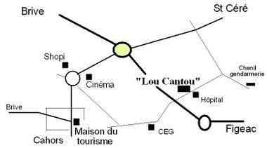 Galerie Lou Cantou - Plan