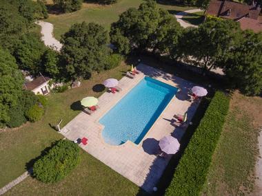 Hôtel Le Belvédère-Rocamadour-piscine