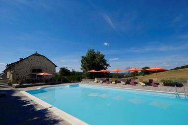 Hôtel Le Relais du Teulet-Goulles-piscine