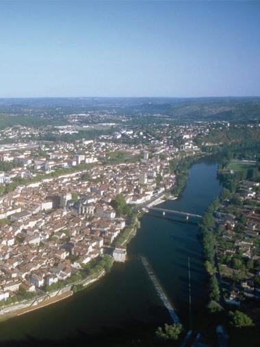 Cahors : Vue du Mont St Cyr