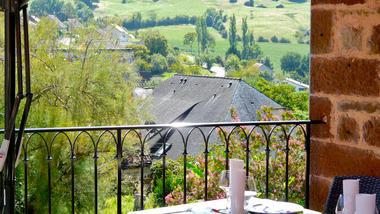 La vue depuis la terrasse - La Bastidie - Noailhac