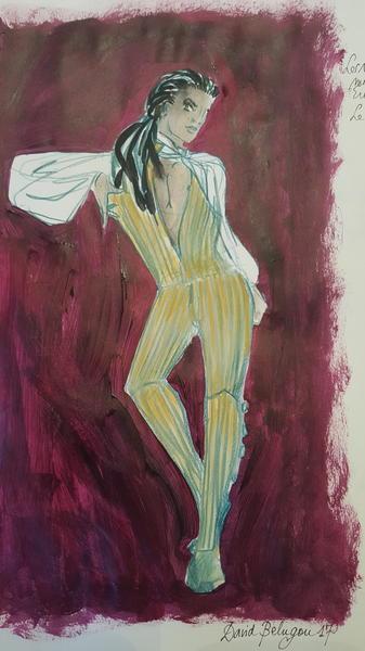 Les noces de figaro-maquette costume le comte-copyright David Belugou