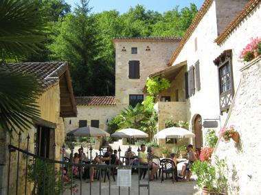 Moulin de Laborde - terrasse