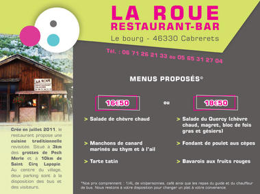 Restaurant La Roue Cabrerets