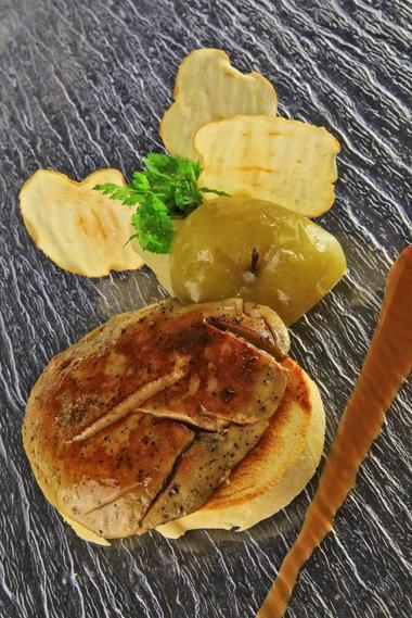Restaurant le Chateau-RocamadourFoie gras poêlé