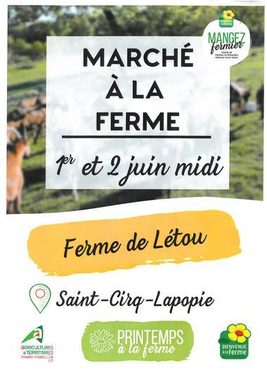 Marché ferme de Létou 2019