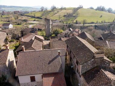 Village de Cardaillac en hiver