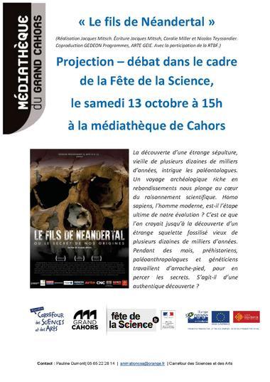 affiche fils de neandertal