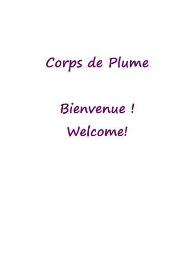 Corps de Plume