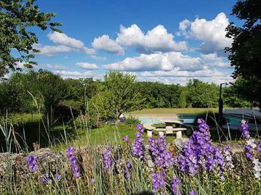 piscine sur un domaine de 3,5 hectares