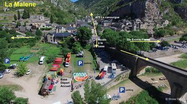 plan-d-acces--canoe2000-la-malene-gorgesdu-tarn