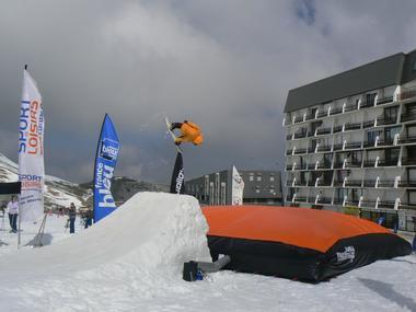 Airbag sur front de neige