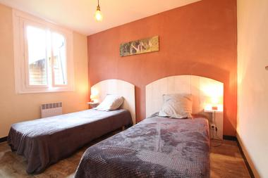 Le chalet d'Issarbe - Chambre lits simples