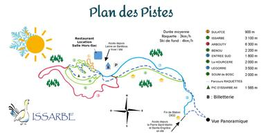 Plan pistes Issarbe