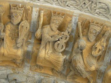 Quartier-Sainte-Marie-Detail-portail-de-la-cathedrale-XXX-OLORON-SAINTE-MARIE-OTHB-DI