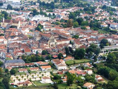 Saint-Sever vue aérienne