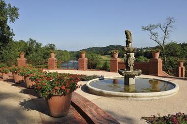 Jardin château de laas