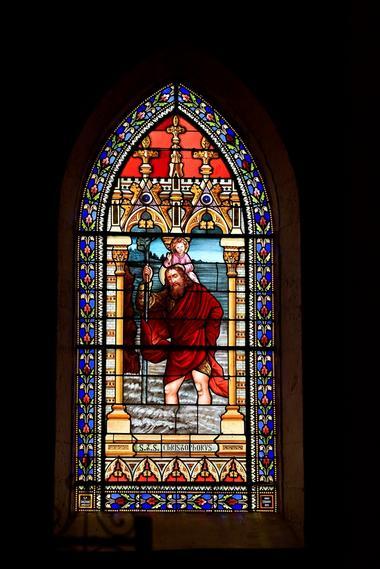 Geaune église vitrail