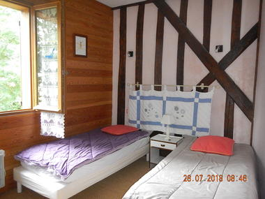 Les Clés d'Emeraude - chambre Le Renard Roux - 2 pers - Outines - lac du der