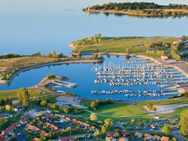 Vue aérienne du Lac du Der