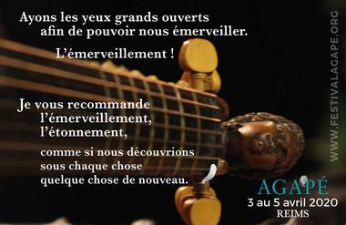 4ème Edition du Festival Agapé à Reims du 3 au 5 avril 2020