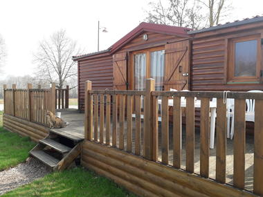 Mobilhome type chalet exterieur