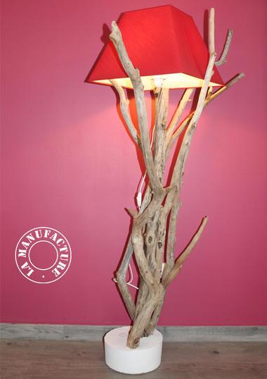 AICO lampadaire bois flotté