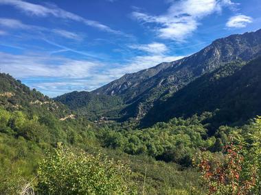 Hampshire vue sur les montagnes