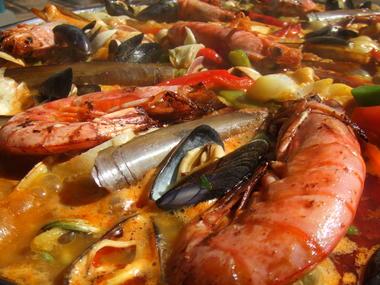 Paella de la mer plat
